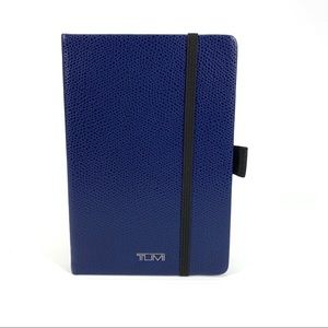 Tumi Province Blue Leather Notebook